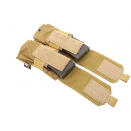 Flyye Industries MOLLE Double M4 Magazine Pouch - Coyote Brown