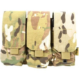 Flyye Industries MOLLE Triple M4 Magazine Pouch - Genuine Multicam