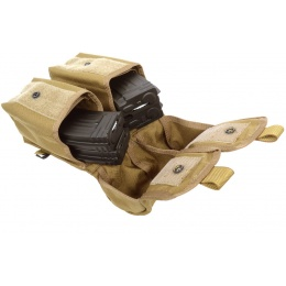 Flyye Industries MOLLE Double AK Magazine Pouch - Coyote Brown