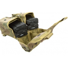 Flyye Industries MOLLE Double AK Magazine Pouch - Genuine Multicam