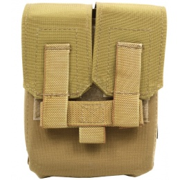 Flyye Industries MOLLE M249 200rd Drum Magazine Pouch - Coyote Brown