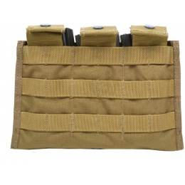 Flyye Industries MOLLE Ver. II Triple M4 Magazine Pouch - Coyote Brown