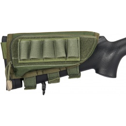 Flyye Industries Tactical Rifle Cheek Rest w/ Accessory Pouch - OD GREEN