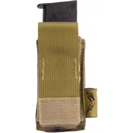 Flyye Industries Airsoft Single Stack Pistol Magazine Pouch - MULTICAM