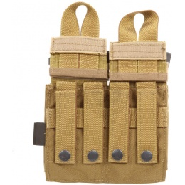 Flyye Industries MOLLE Double M4 & Quad Mag Pouch - COYOTE BROWN