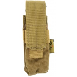 Flyye Industries MOLLE Single 9mm Pistol Mag Pouch - COYOTE BROWN