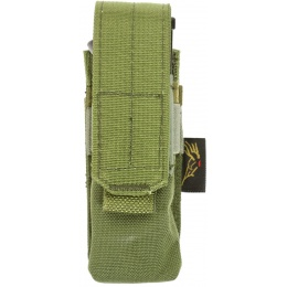 Flyye Industries MOLLE Single 9mm Style Pistol Magazine Pouch - OD