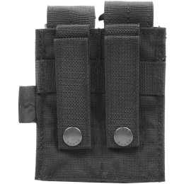 Flyye Industries MOLLE Double 9mm Style Pistol Magazine Pouch - BLACK