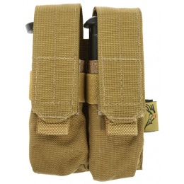 Flyye Industries MOLLE Double 9mm Pistol Mag Pouch - COYOTE BROWN