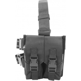 Flyye Industries MOLLE Drop Leg M4 Double Magazine Pouch - BLACK