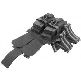 Flyye Industries MOLLE Drop Leg M4 Double Magazine Pouch - BLACK