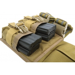 Flyye Industries MOLLE Drop Leg M4 Double Mag Pouch - COYOTE BROWN
