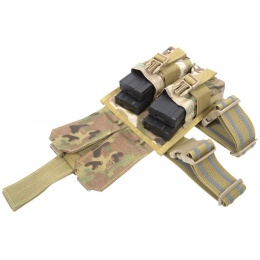 Flyye Industries MOLLE Drop Leg M4 Double Magazine Pouch - MULTICAM