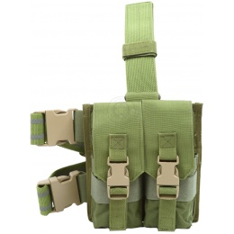 Flyye Industries MOLLE Drop Leg M4 Double Magazine Pouch - OD