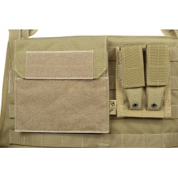Flyye Industries 1000D MOLLE Plate Carrier w/ Pouches - KHAKI