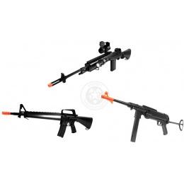 Starter Package:  AGM M14 RIS Rifle + Well M16A1 Rifle + DE MP40