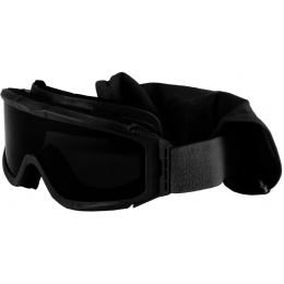 Bobster ALPHA ANSI Z87 Ballistic Rated Goggles w/ Clear + Smoke Lenses