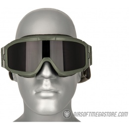 Bobster ALPHA ANSI Z87 Ballistic Rated Goggles w/ Extra Lenses - OD