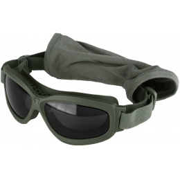 Bobster Bravo ANSI Z87 Ballistic Rated Goggles w/ Extra Lenses - OD