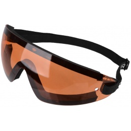 Bobster Airsoft Wrap Around Frameless Safety Goggles w/ Amber Lens