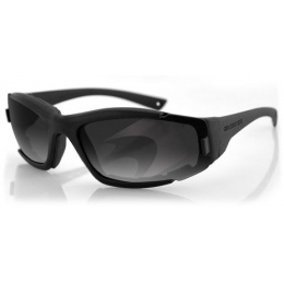 Bobster Resolve ANSI Z87 Rated Sunglasses w/ Goggle Strap - BLACK