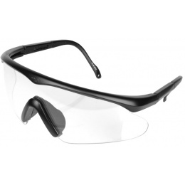 Bobster ESB Wrap-Around ANSI Z87 Airsoft Shooting Glasses - BLACK