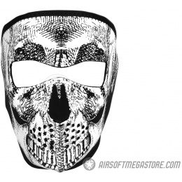 ZAN Headgear Airsoft Neoprene Skull Full Face Mask - BLACK & White