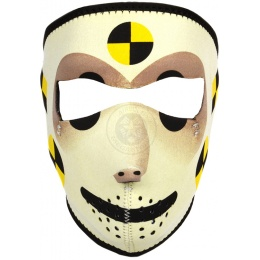 ZAN Headgear Airsoft Crash Test Dummy Full Face Mask - YELLOW/BLACK