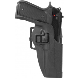 AMA Hard Shell Polymer Fast Draw M9 Airsoft Holster - BLK