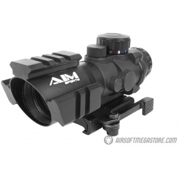 AIM Sports 4x32 Tri-Illuminated Red / Green / Blue Dot QD Rifle Scope