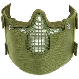 Black Bear RAVEN Steel Mesh Padded Face Airsoft Mask - OD GREEN
