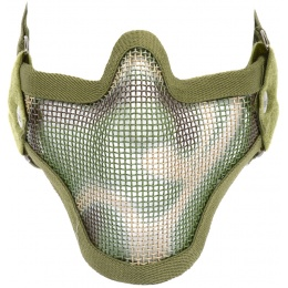 Black Bear Airsoft SHADOW Steel Mesh Lower Face Mask - Woodland