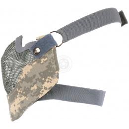 Black Bear VENOM Steel Mesh Lower Airsoft Face Mask - ACU