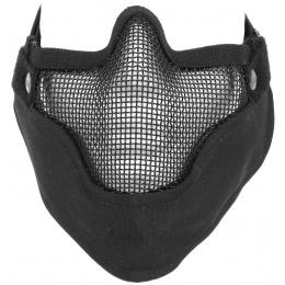 Black Bear VENOM Steel Mesh Lower Airsoft Face Mask - BLACK