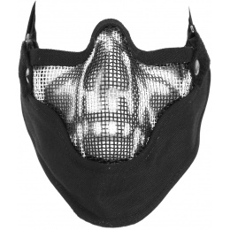 Black Bear VENOM Steel Mesh Lower Airsoft Face Mask - GHOST