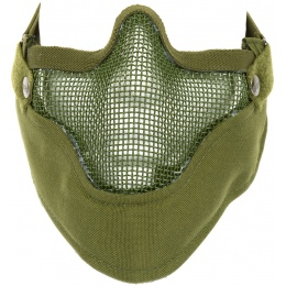 Black Bear Airsoft VENOM Tactical Mesh Lower Face Mask - OD GREEN