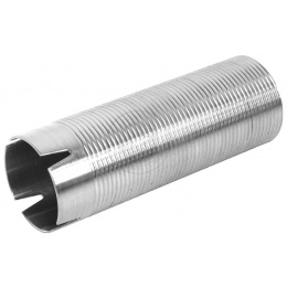 SHS X-Mod Airsoft Steel 4-Port Ringed Cylinder - Mid (407 - 455mm)