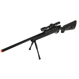 CYMA Airsoft MK51 Bolt Action Sniper Rifle w/ Scope - BLACK