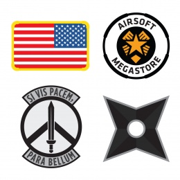 Airsoft Megastore Players Patch COMBO - Premium Hi-Fidelity Series