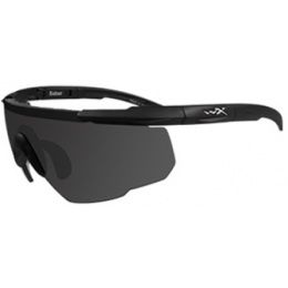 Wiley X Saber Changeable Ballistic Glasses Eye Protection - SMOKE GREY