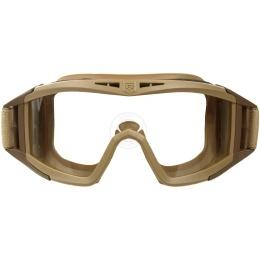 Revision Locust Ballistic Airsoft Goggle - Clear & Solar Lens - TAN