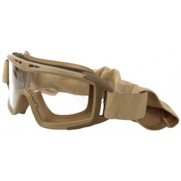 Revision Desert Locust Ballistic Clear Goggle System Basic Kit - TAN