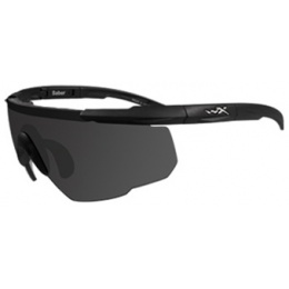 Wiley X Saber Changeable Ballistic Airsoft Glasses - SMOKE GREY