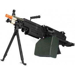 A&K M249 PARA Full Metal Airsoft AEG Machine Gun w/ Bipod - SAW