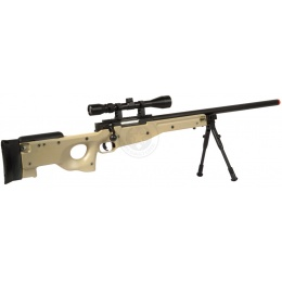 WellFire MK96 Bolt Action AWP Sniper Rifle w/ Scope and Bipod - TAN