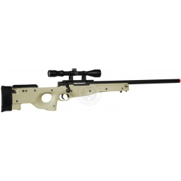 WellFire MK96 Bolt Action AWP Airsoft Sniper Rifle w/ Scope - TAN