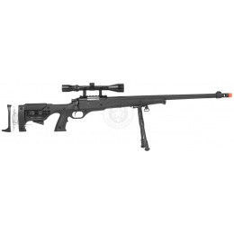 WellFire MB12D Full Metal Bolt Action Sniper Rifle w/  Scope and Bipod