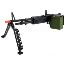 A&K Full Metal M60 VN Airsoft Machine Gun AEG Rifle - Support Weapon