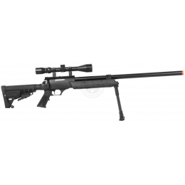 WellFire APS SR-2 Modular Airsoft Sniper Rifle - Scope & Bipod - BLACK