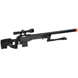 WellFire MK96 AWP Bolt Action Airsoft Sniper Rifle w/ Scope & Bipod